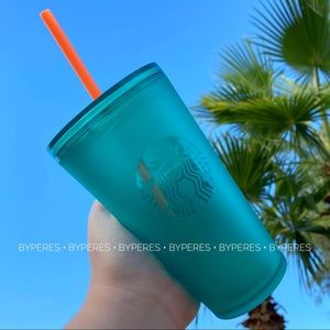 NEW ✨ Starbucks Teal Frosted Matte Tumbler